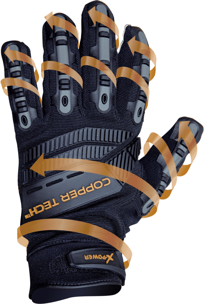 Copper Infused Workman/Mechanic Gloves - Master Pro Image